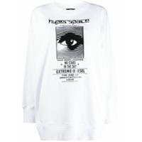 Diesel Suéter Mangas Longas Com Logo - Branco