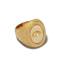 Feidt Paris Anel De Ouro 9K Com Safira E Quartzo - Dourado