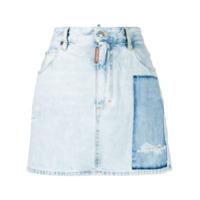 Dsquared2 Saia Jeans Dalma Com Patch - Azul
