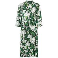 Dolce & Gabbana Chemise Floral Em Seda - Verde