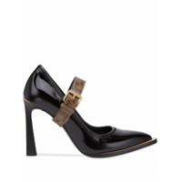 Fendi Sapato Mary Jane Fframe - Preto