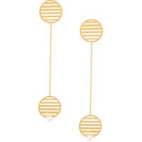 Hsu Jewellery Par De Brincos De Círculos - Dourado