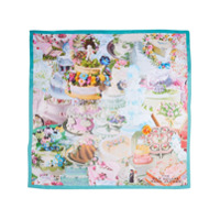 Marc Jacobs Echarpe The Cake Collage Square - Azul