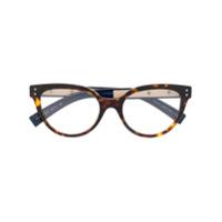 Valentino Eyewear Armação De Óculos Gatinho Tartaruga - Marrom