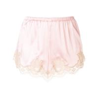 Dolce & Gabbana Underwear Short Com Acabamento De Renda - Rosa