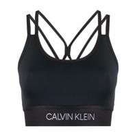 Calvin Klein Underwear Sutiã Esportivo Com Estampa De Logo - Preto