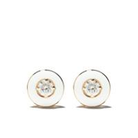Selim Mouzannar Par De Brincos Mina De Ouro Rosé 18K Com Diamante - Rose Gold