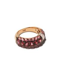 Brumani Anel Yara De Ouro 18K Com Diamante - Rose Gold And Pink