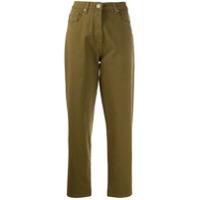 Barbara Bui Calça Jeans Reta Cintura Alta - Verde