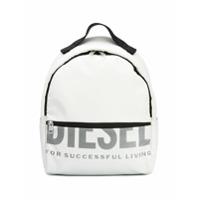 Diesel Mochila Com Estampa De Logo - Branco