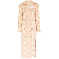 Rave Review Trench coat Rue com estampa floral - Neutro