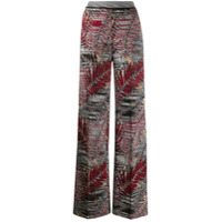 Missoni Calça Pantalona Com Bordado - Rosa