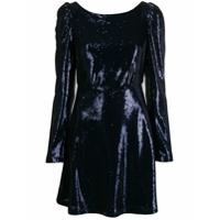 Black Coral Vestido Com Aplicação De Paetês - Azul