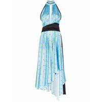 Natasha Zinko Vestido Frente Única Com Estampa - Azul