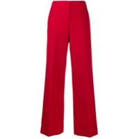 Theory Calça De Alfaiataria Pantalona - Vermelho