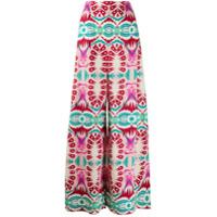 Le Sirenuse Calça Pantalona Com Estampa Geométrica - Rosa