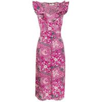 Isabel Marant Étoile Vestido Midi Coraline Floral - Rosa