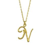Alex Monroe Colar Enchanted Twig Alphabet N De Ouro 18K - Dourado