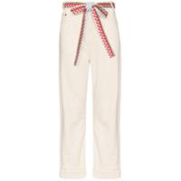 Mira Mikati Calça Jeans Pantalona Com Cinto - Neutro