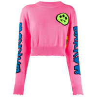 Barrow Suéter Com Padronagem - Rosa