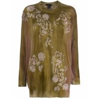 Avant Toi Suéter Decote Careca Com Bordado Floral - Verde