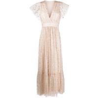Temperley London Vestido Longo Com Detalhe De Brilho - Neutro
