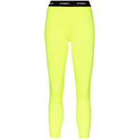 Vetements Legging Com Logo Fluorescente No Cós - Amarelo