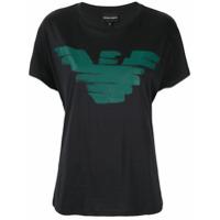 Emporio Armani Camiseta Eagle Com Logo - Azul