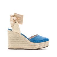 Schutz Sandália salto alto anabela - Azul