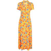 Lhd Vestido Com Estampa Floral - Amarelo