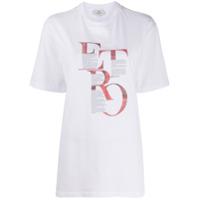 Etro Camiseta Longa Com Estampa Gráfica - Branco