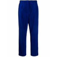 Odeeh Calça De Alfaiataria Cropped - Azul