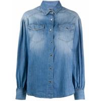 Pinko Camisa Jeans Com Dois Bolsos - Azul