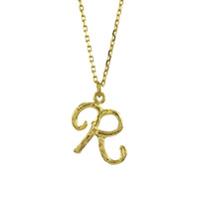 Alex Monroe Colar Enchanted Twig Alphabet R De Ouro 18K - Dourado