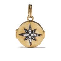 Feidt Paris Medalhão De Ouro 9K Com Safira - Dourado
