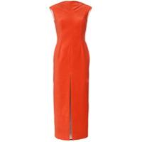 Situationist Vestido Sem Mangas Com Fenda Frontal - Vermelho