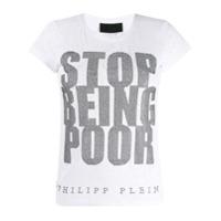 Philipp Plein Camiseta Ss Crystal - Branco