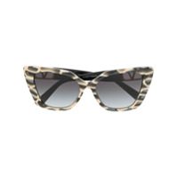 Valentino Eyewear Óculos de sol gatinho VLOGO - Cinza