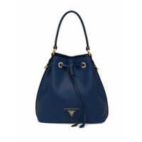 Prada Bolsa Saco De Couro Saffiano - Azul