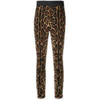 Dolce & Gabbana Calça Legging Com Animal Print - Preto