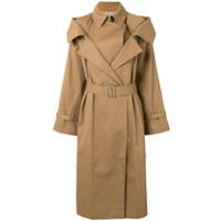 Boyarovskaya Trench Coat Com Cinto - Marrom