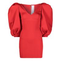 Az Factory Vestido Mybody Com Mangas Bufantes - Vermelho