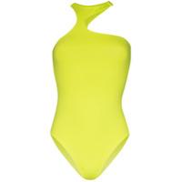 Fantabody Body Frente Única Assimétrico Michela - Amarelo