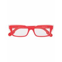 Kenzo Armação De Óculos Retangular - Laranja