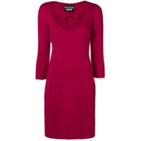 Boutique Moschino Vestido Com Laço Frontal - Rosa