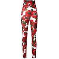 Dolce & Gabbana Legging Com Estampa Floral - Vermelho