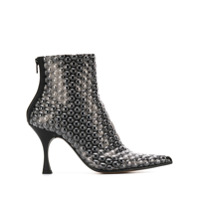 Mm6 Maison Margiela Ankle Boot Com Estampa - Preto