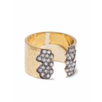 Feidt Paris Anel De Ouro 9K Com Safira - Dourado