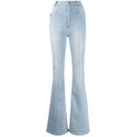Philipp Plein Calça Jeans Flare Cowboy - Azul