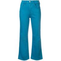 3X1 Cropped Straight-Leg Jeans - Azul